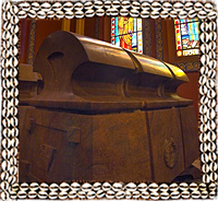Emperor Haile Selassie tomb in Holy Trinity Cathedral