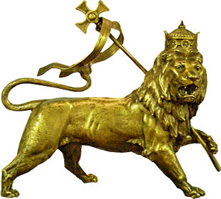 Ethiopian Lion of Judah in National Museum, Addis Ababa